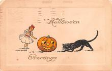 hol012781 - Halloween Post Card Old Vintage Antique