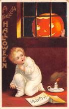 hol012787 - Halloween Post Card Old Vintage Antique