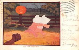hol012807 - Halloween Post Card Old Vintage Antique