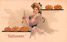 hol012821 - Halloween Post Card Old Vintage Antique
