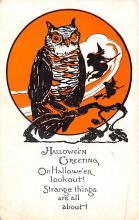 hol012823 - Halloween Post Card Old Vintage Antique