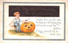 hol012827 - Halloween Post Card Old Vintage Antique