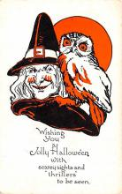 hol012845 - Halloween Post Card Old Vintage Antique