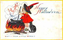 hol012857 - Halloween Post Card Old Vintage Antique