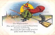 hol012861 - Halloween Post Card Old Vintage Antique