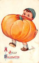 hol012865 - Halloween Post Card Old Vintage Antique