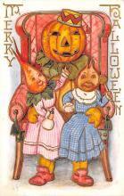 hol012871 - Halloween Post Card Old Vintage Antique