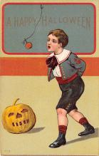 hol012879 - Halloween Post Card Old Vintage Antique