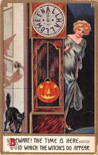 hol012905 - Halloween Post Card Old Vintage Antique
