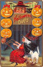 hol012921 - Halloween Post Card Old Vintage Antique