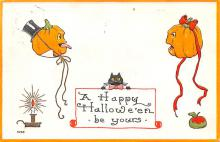 hol012931 - Halloween Post Card Old Vintage Antique