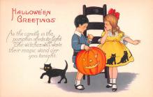 hol012941 - Halloween Post Card Old Vintage Antique
