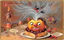 hol012943 - Halloween Post Card Old Vintage Antique
