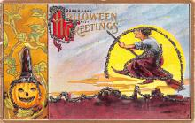 hol012969 - Halloween Post Card Old Vintage Antique