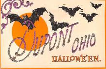 hol012971 - Halloween Post Card Old Vintage Antique