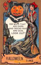 hol012973 - Halloween Post Card Old Vintage Antique