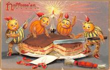 hol012981 - Halloween Post Card Old Vintage Antique
