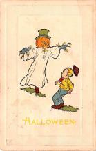 hol014003 - Halloween Post Card Old Vintage Antique