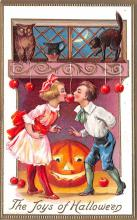 hol014005 - Halloween Post Card Old Vintage Antique