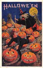 hol014015 - Halloween Post Card Old Vintage Antique