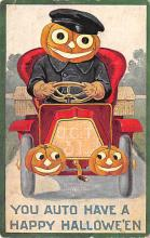 hol014017 - Halloween Post Card Old Vintage Antique