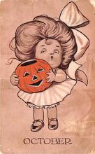 hol014021 - Halloween Post Card Old Vintage Antique