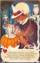 hol014027 - Halloween Post Card Old Vintage Antique