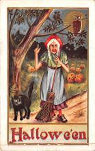 hol014033 - Halloween Post Card Old Vintage Antique