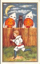 hol014039 - Halloween Post Card Old Vintage Antique