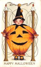 hol014041 - Halloween Post Card Old Vintage Antique