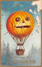 hol014047 - Halloween Post Card Old Vintage Antique