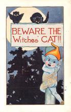 hol014055 - Halloween Post Card Old Vintage Antique