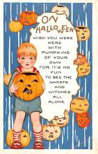 hol014057 - Halloween Post Card Old Vintage Antique