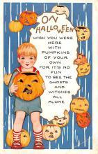 hol014057 - Halloween Post Card Old Vintage Antique