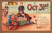 hol014063 - Halloween Post Card Old Vintage Antique