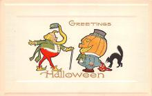 hol014067 - Halloween Post Card Old Vintage Antique