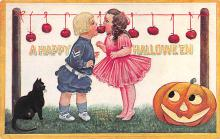 hol014073 - Halloween Post Card Old Vintage Antique