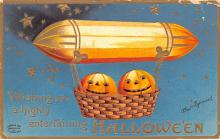 hol014081 - Halloween Post Card Old Vintage Antique
