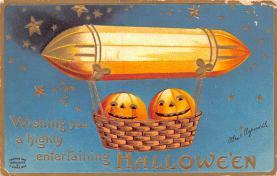 hol014081 - Halloween Post Card Old Vintage Antique