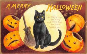hol014083 - Halloween Post Card Old Vintage Antique