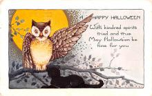 hol014105 - Halloween Post Card Old Vintage Antique