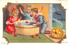 hol014107 - Halloween Post Card Old Vintage Antique