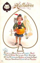 hol014131 - Halloween Post Card Old Vintage Antique