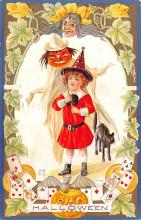hol014147 - Halloween Post Card Old Vintage Antique