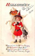 hol014149 - Halloween Post Card Old Vintage Antique