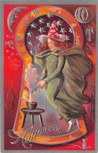 hol014155 - Halloween Post Card Old Vintage Antique