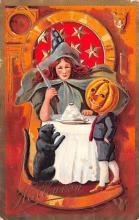 hol014157 - Halloween Post Card Old Vintage Antique