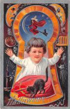 hol014159 - Halloween Post Card Old Vintage Antique