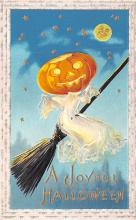 hol014161 - Halloween Post Card Old Vintage Antique