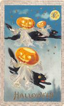 hol014163 - Halloween Post Card Old Vintage Antique